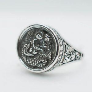 Мъжки сребърен пръстен Св. Йона