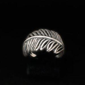Сребърен пръстен листа