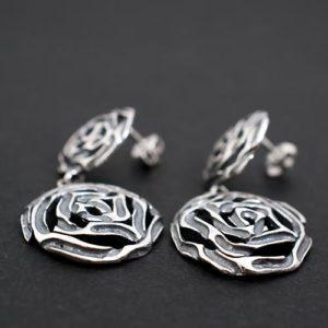 обеци двойни рози 1а