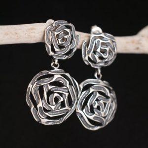 обеци роза двойна а