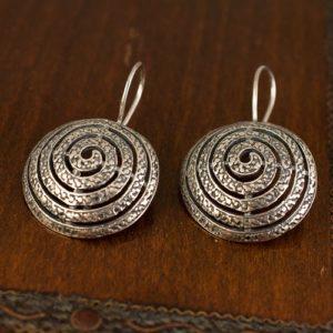 спирали-сребърни обеци