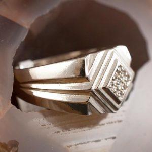 мъжки пръстен с камък 1а