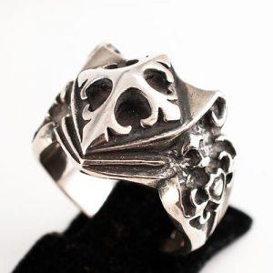 Мъжки пръстен с рицарски кръст а