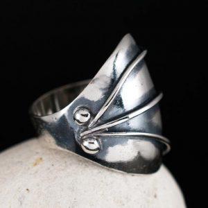 Сребърен пръстен Шлем