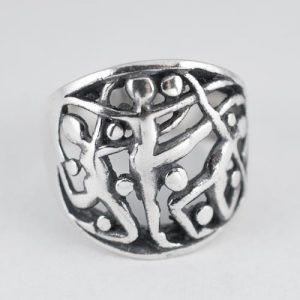 Сребърен пръстен Гимнастически силуети