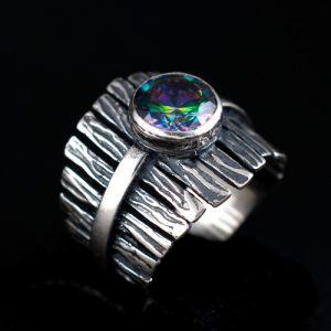 Мистик топаз пръстен